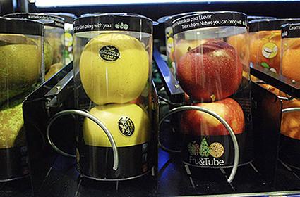 Incluir fruta fresca en una máquina expendedora