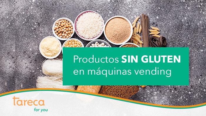 Productos sin gluten en máquinas de vending