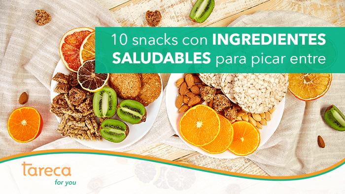 10 snacks con ingredientes saludables para picar entre horas