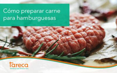 Cómo preparar carne para hamburguesas