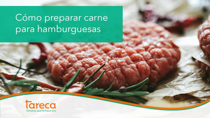 Para preparar carne para hamburguesas, es necesario utilizar carne de primera calidad y pedir que nos la piquen en el mercado